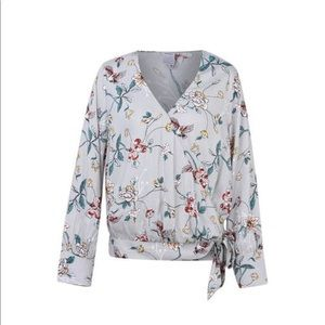 Tops - Anko Long Sleeve Floral Wrap Top